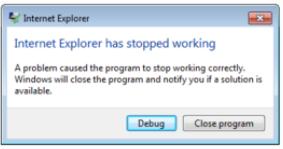 error on page
